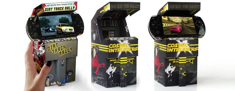 Sony Psp Cardboard Mini Arcade Cabinets The Green Head
