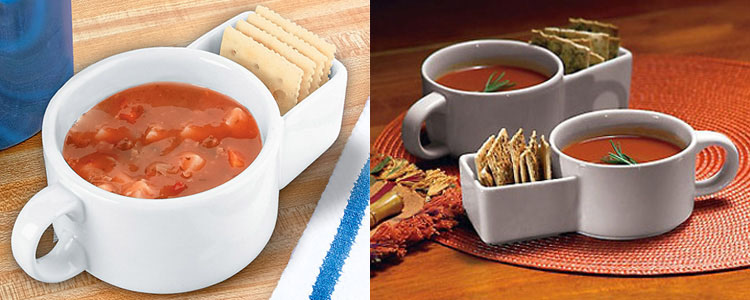 Soup And Cracker Mugs