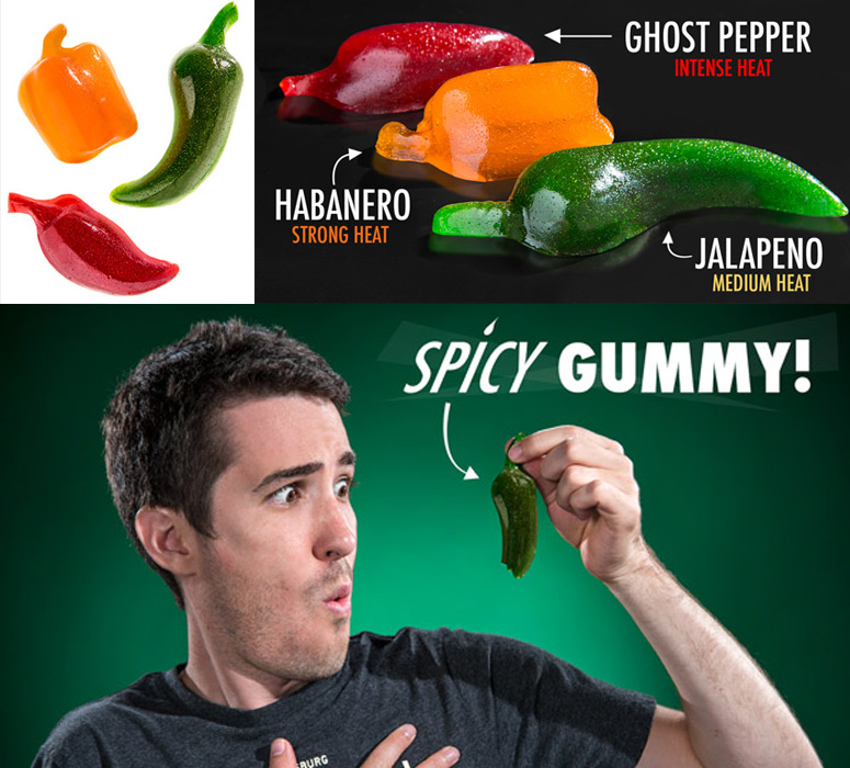 Spicy Gummy Chili Peppers The Green Head
