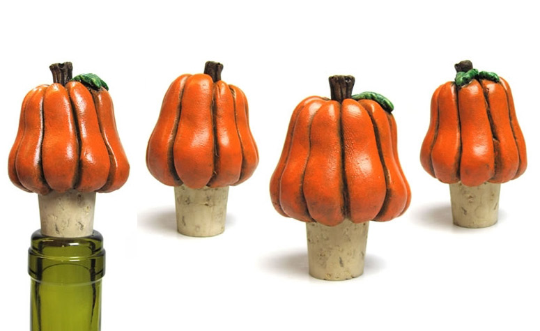 Spooky Pumpkin Wine Bottle Stopper