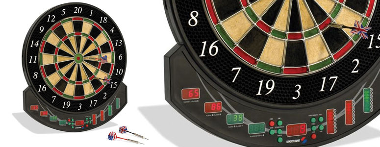 Sportcraft Genuine Bristle Dartboard with Electronic Scoring