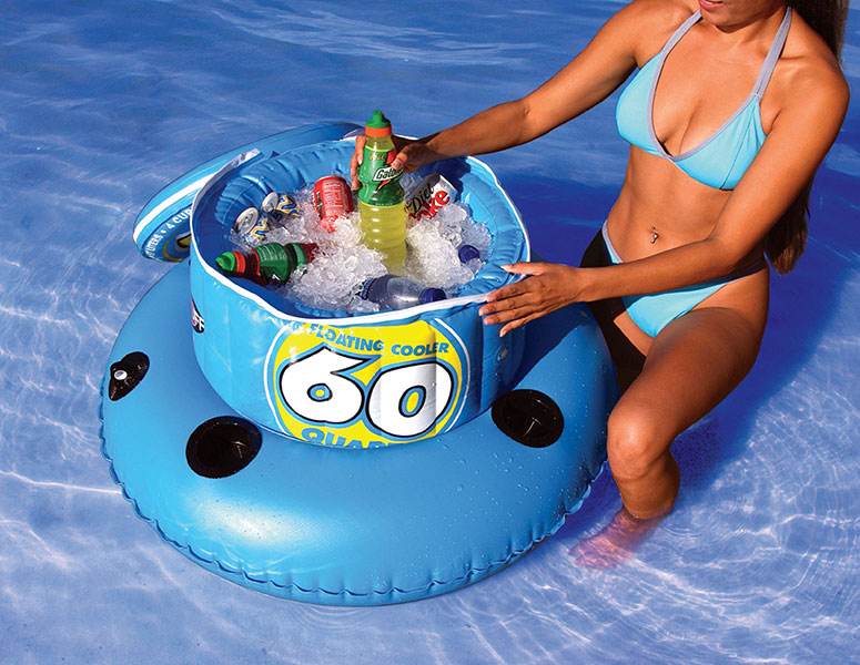 SportsStuff  60 Quart Inflatable Floating Cooler