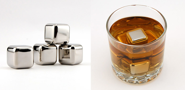 Stainless Steel Ice Cubes with Tray