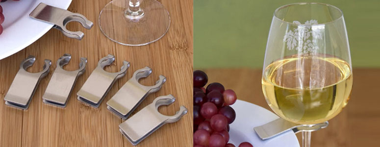 Stainless Steel Wine Glass Plate Clips & Stainless Steel Wine Glass Plate Clips - The Green Head