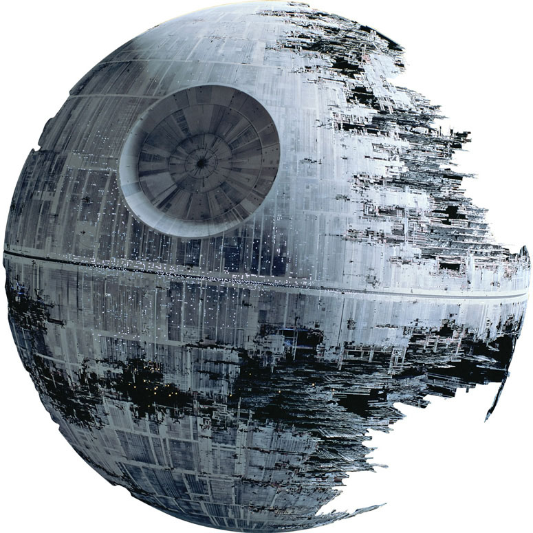 star wars death star ii giant fathead wall graphic. Black Bedroom Furniture Sets. Home Design Ideas