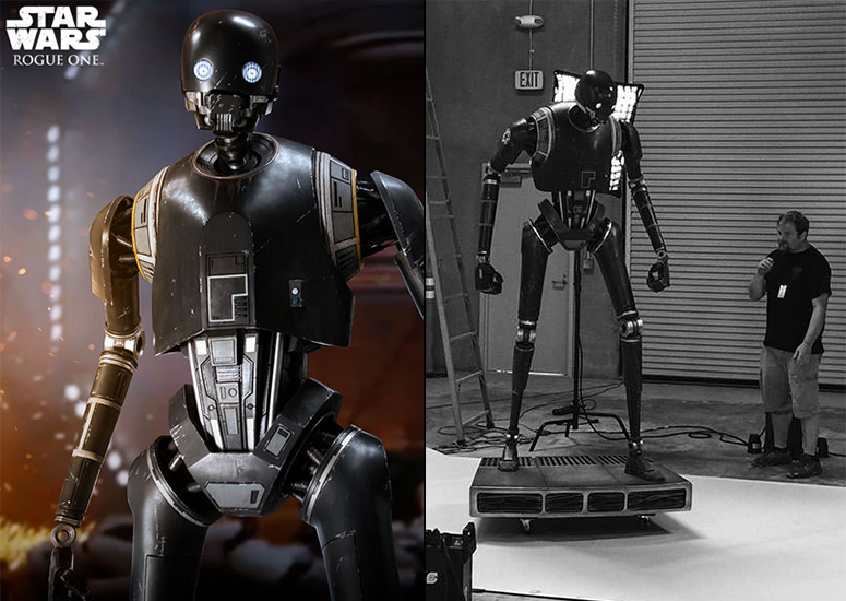 Star Wars Rogue One Massive Lifesize K-2SO Statue