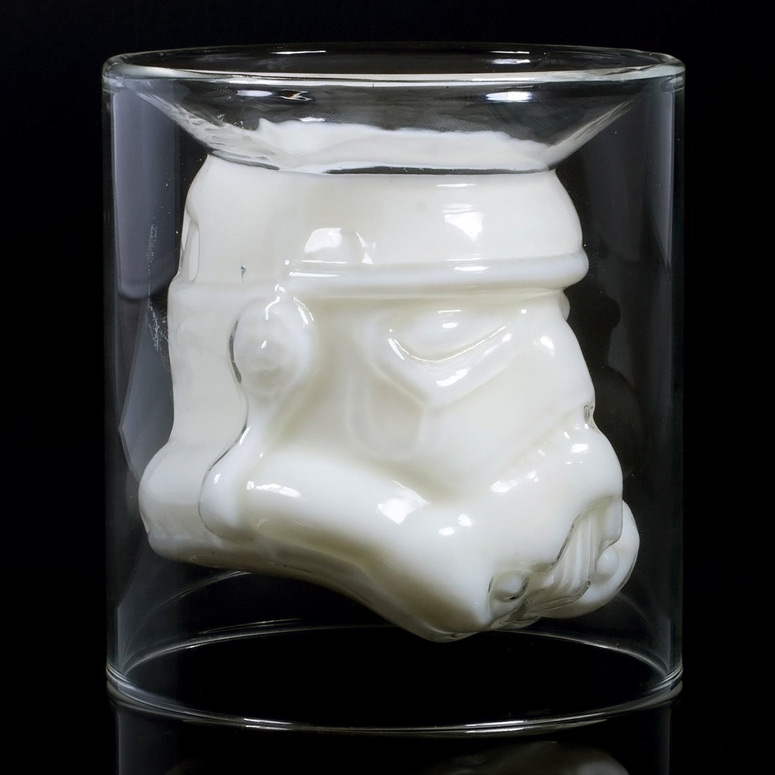 Star Wars Stormtrooper Helmet Double Wall Glass Tumbler
