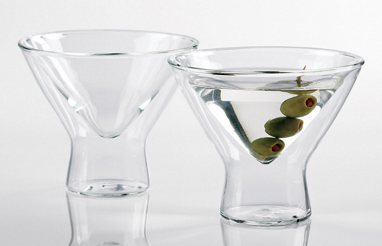 Steady-Temp Martini Glasses