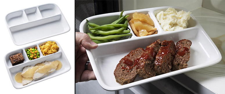 Stoneware TV Dinner Trays - The Green Head