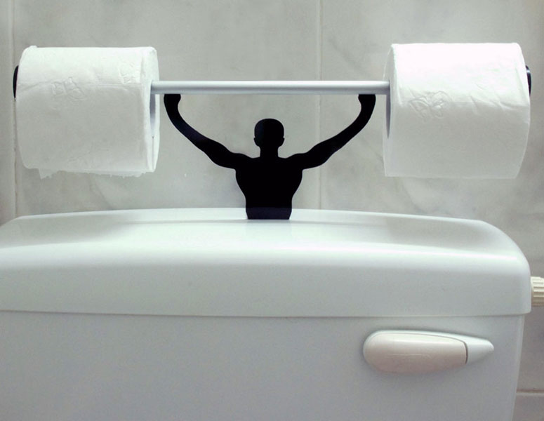 Strong Man Toilet Paper Holder The Green Head: creative toilet paper holder