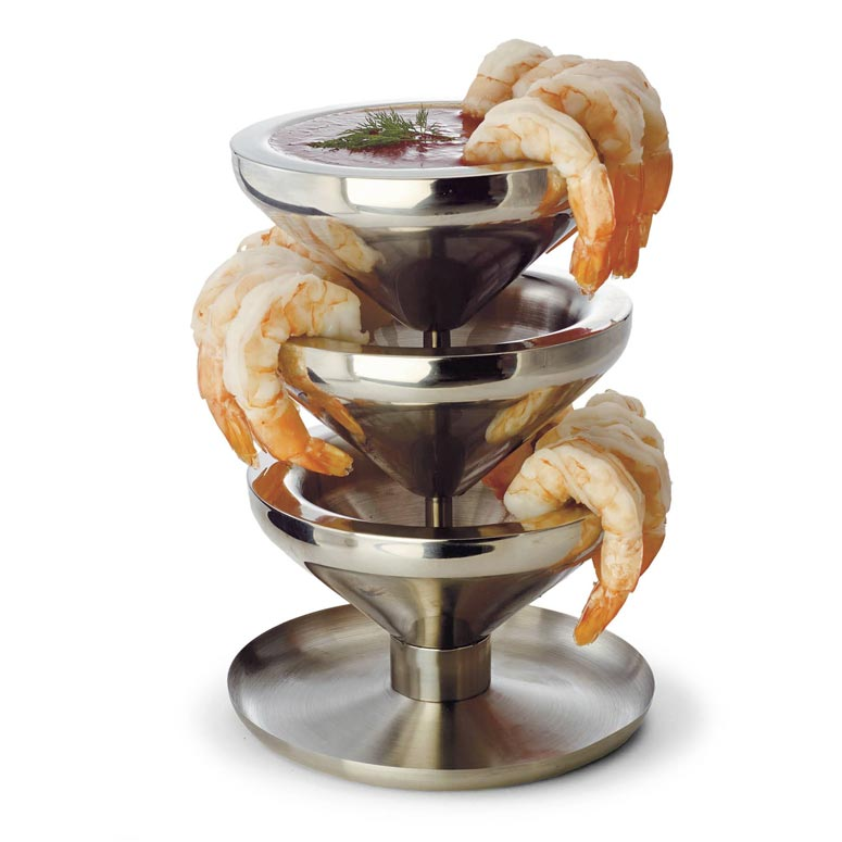 Super Chill Shrimp Tower - Serve Chilled Shrimp and Cocktail Sauce Without Ice