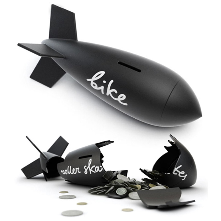 Superbitus - Missile-Shaped Piggy Bank