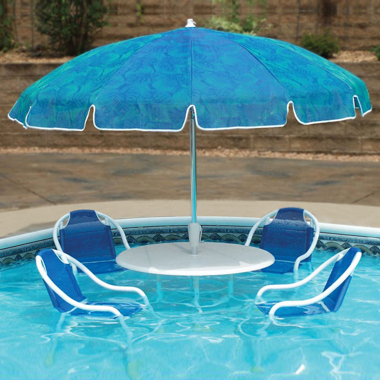 Swimming pool patio table set the green head for Pool and patio furniture