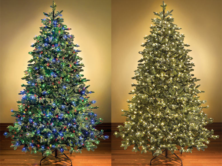 switchable color prelit christmas tree - Pre Lit Artificial Christmas Trees Sale