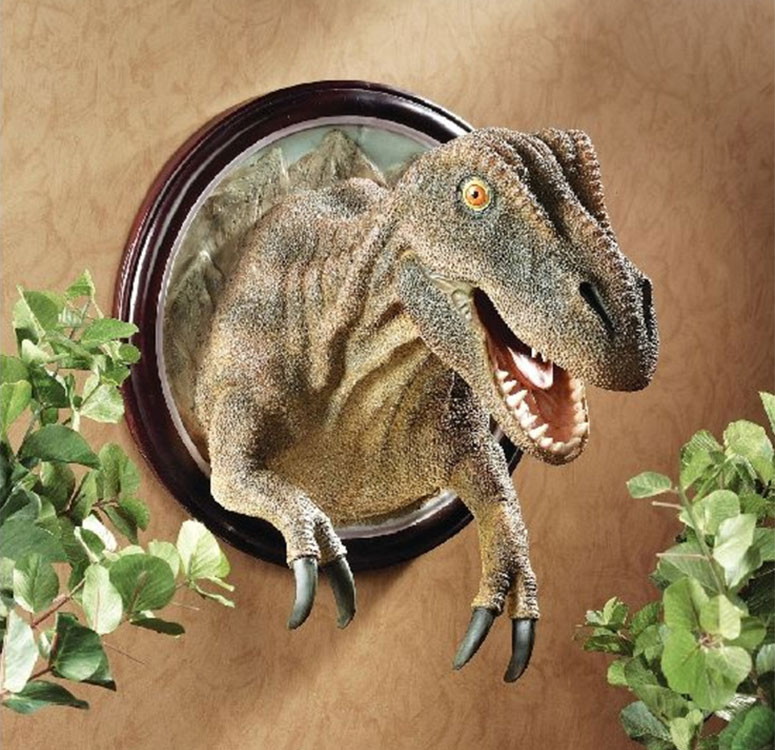 T Rex Dinosaur Trophy Wall Sculpture The Green Head