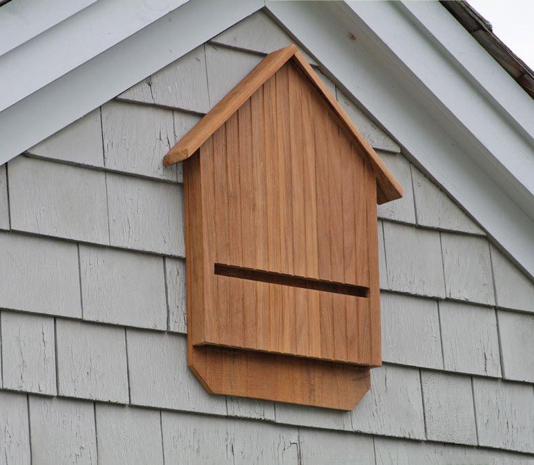 Teak bat house no more mosquitos the green head for Bat condo