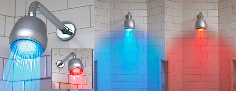 Temperature Sensitive LED Shower Light