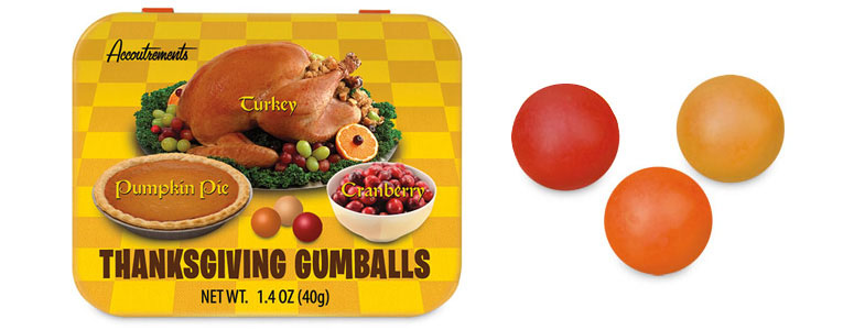 Thanksgiving Gumballs - Turkey, Cranberry and Pumpkin Pie Flavors!