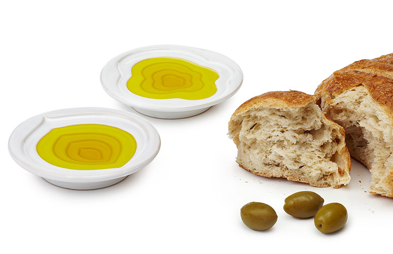 Tiered Olive Oil Dipping Bowls
