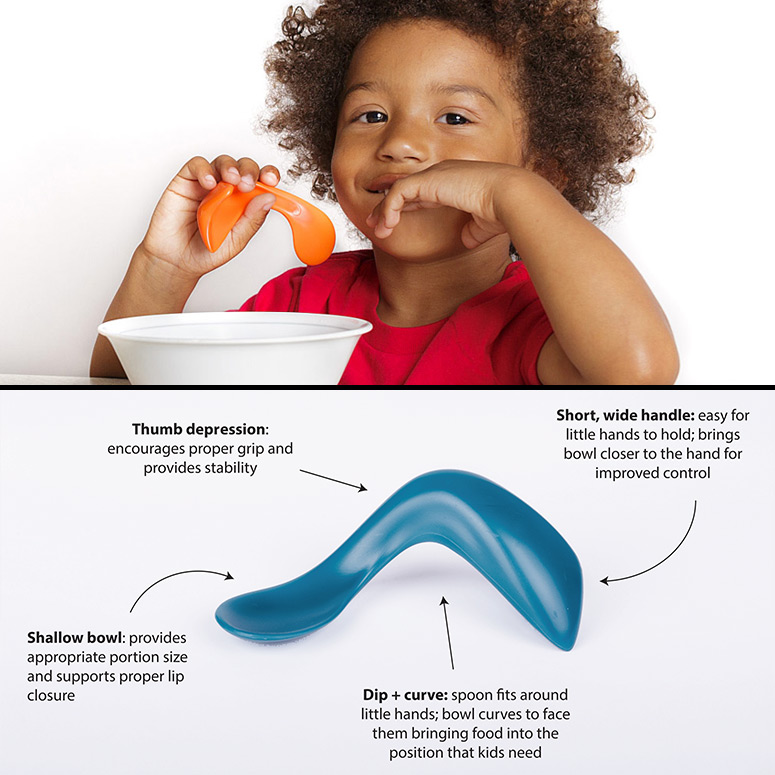 Toddler Self-Feeding Curved Spoons