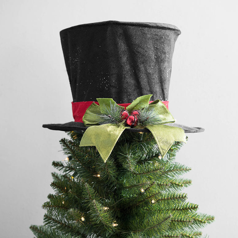 top hat christmas tree topper - Top Hat Christmas Decorations