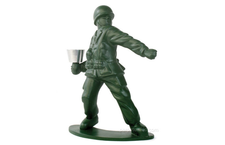 Toy Soldier Candle Holder The Green Head
