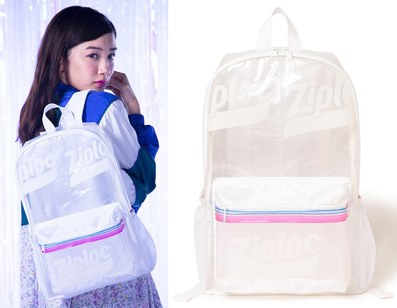 Transparent Ziploc Storage Bag Backpack