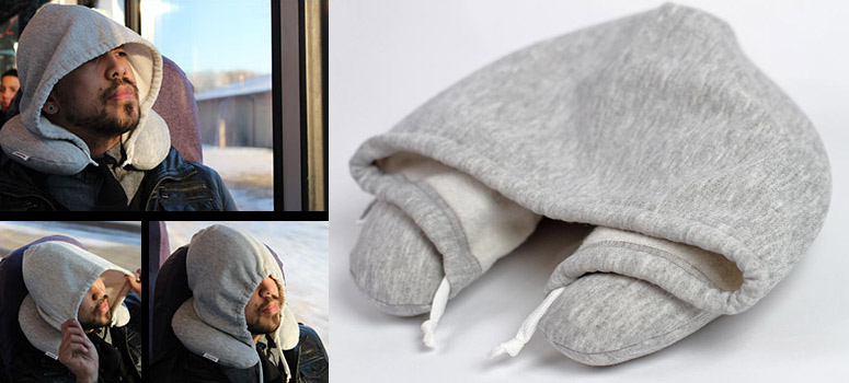 Travel HoodiePillow - Hooded Travel Pillow - The Green Head