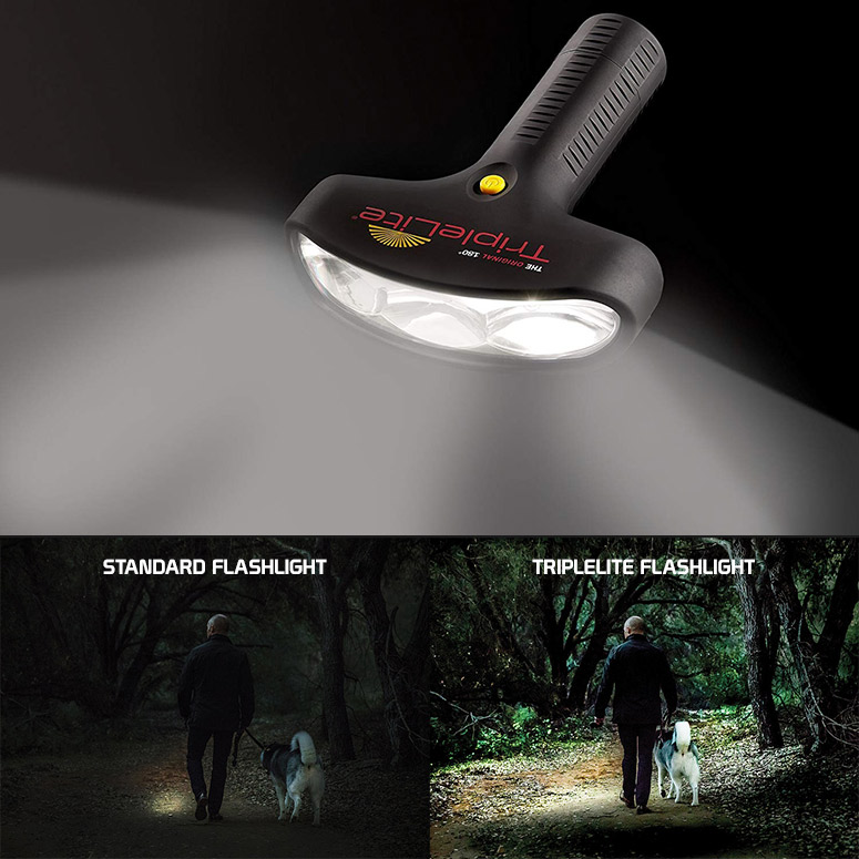 TripleLite - 180 Degree Wide Beam LED Flashlight