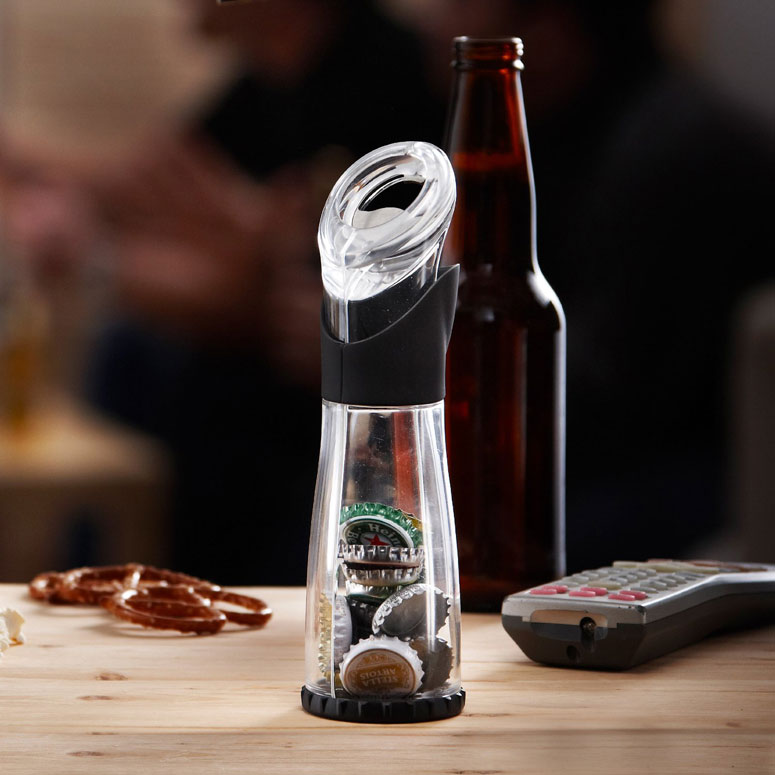 Trudeau Bottle Opener / Cap Catcher
