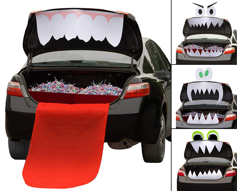 trunk or treat halloween car trunk decorations