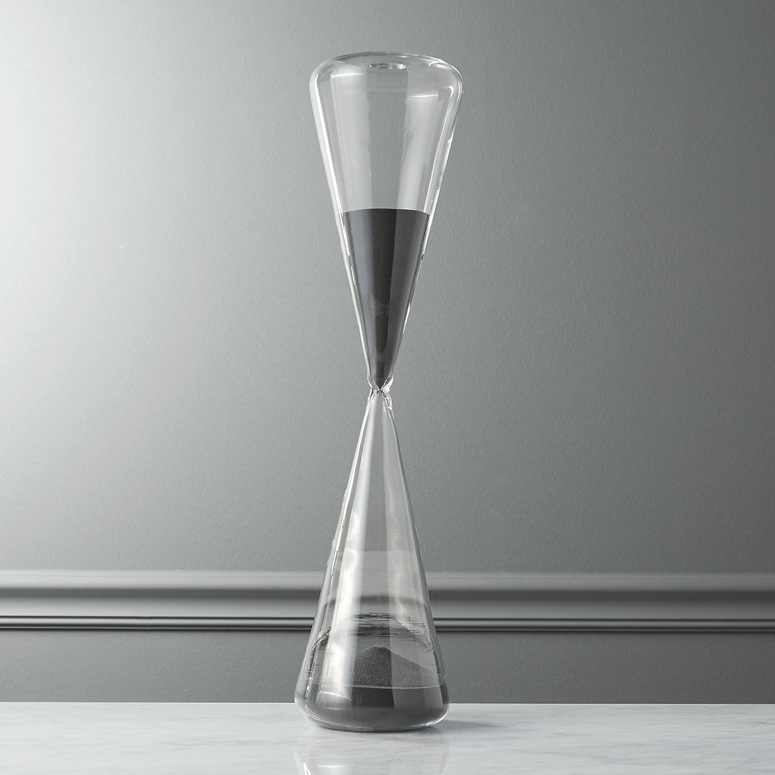 Two Hour Grey Sand Hourglass