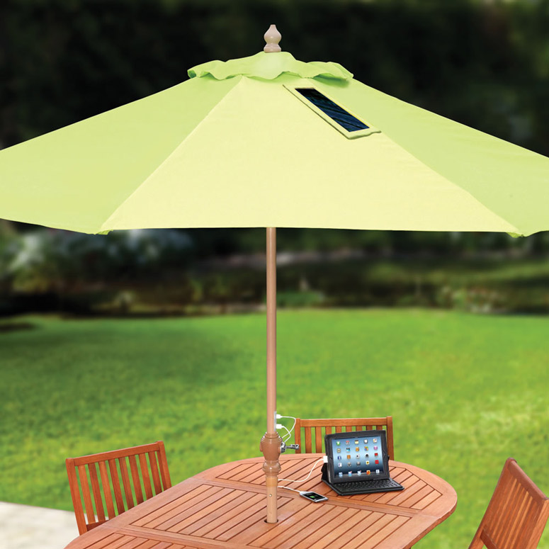 Usb Charging Solar Market Umbrella