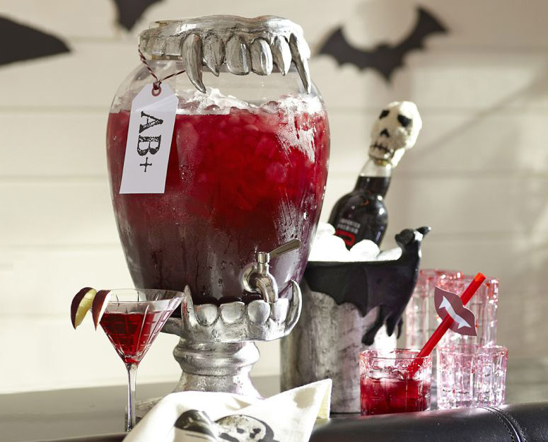 Vampire Teeth Drink Dispenser Stand The Green Head