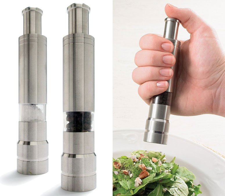 One Handed Salt And Pepper Grinders The Green Head