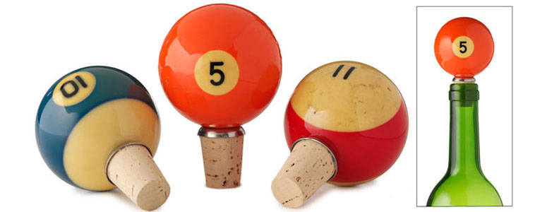 Vintage Pool Ball Bottle Stoppers