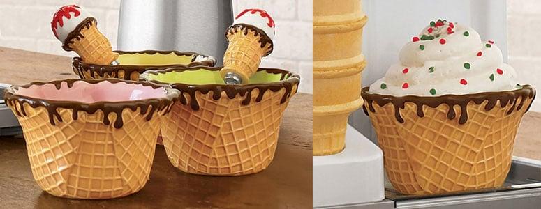 Waffle Cone Ice Cream Bowls The Green Head