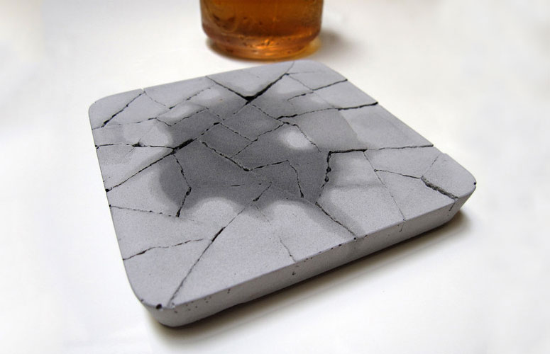 Water Absorbent Concrete Coaster