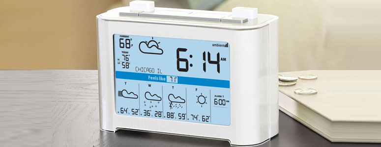 WeatherCast - Wireless Weather Forecaster Alarm Clock