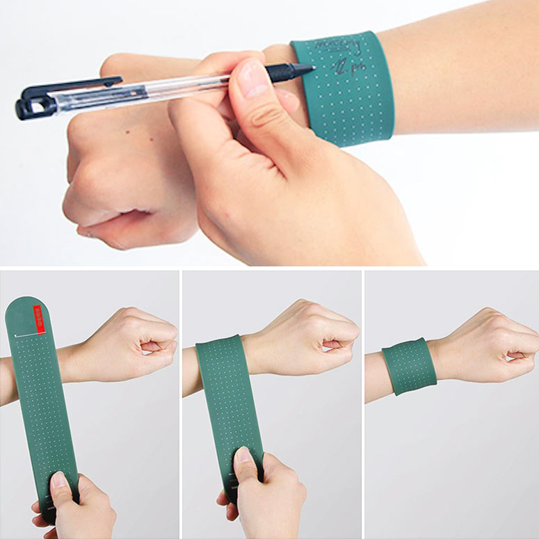WEMO Wearable Memo Pad Slap Bracelet