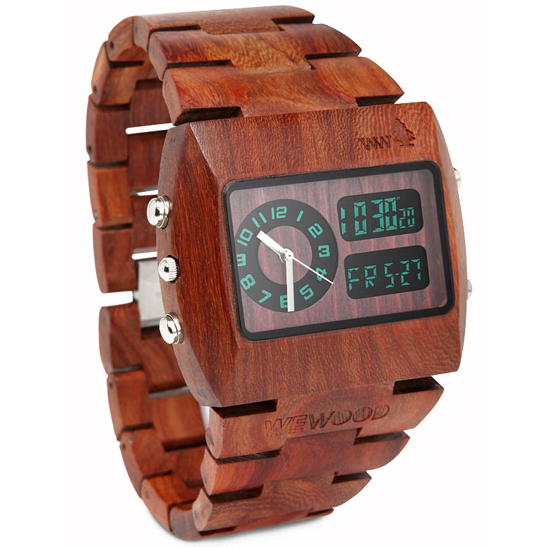 Wewood Chrono 100 Natural Wood Watch The Green Head