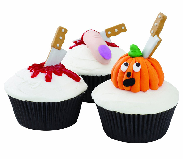 Wilton halloween knife cupcake icing decorations the green head - Halloween decorations for cupcakes ...