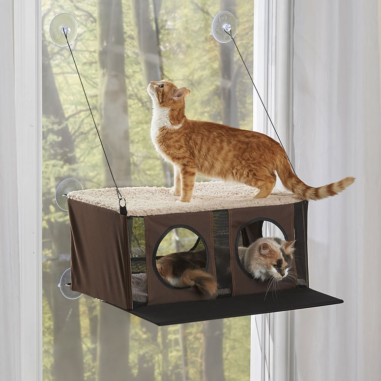 Window-Mounted Cat Penthouse