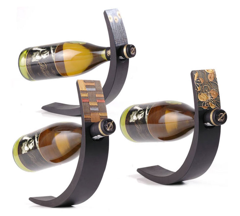 Wine arc balancing wine bottle display the green head - Wine bottle balancer plans ...