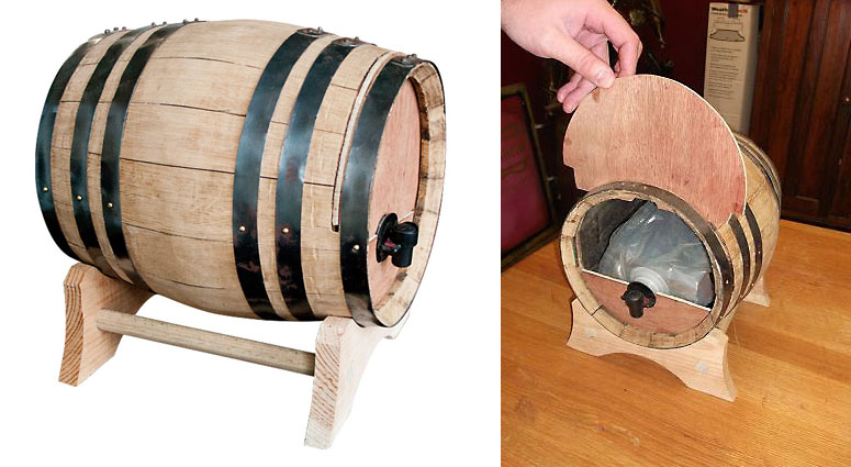 Wine Dispensing Oak Barrel