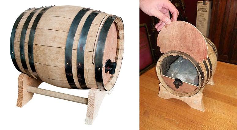 Wine Dispensing Oak Barrel The Green Head