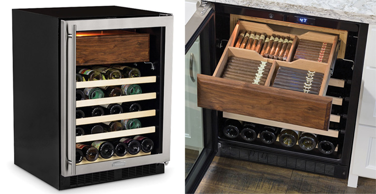Wine Fridge With Cigar Humidor The Green Head