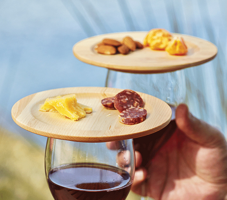 Wine Glass Appetizer Plates : wine plate holder - Pezcame.Com