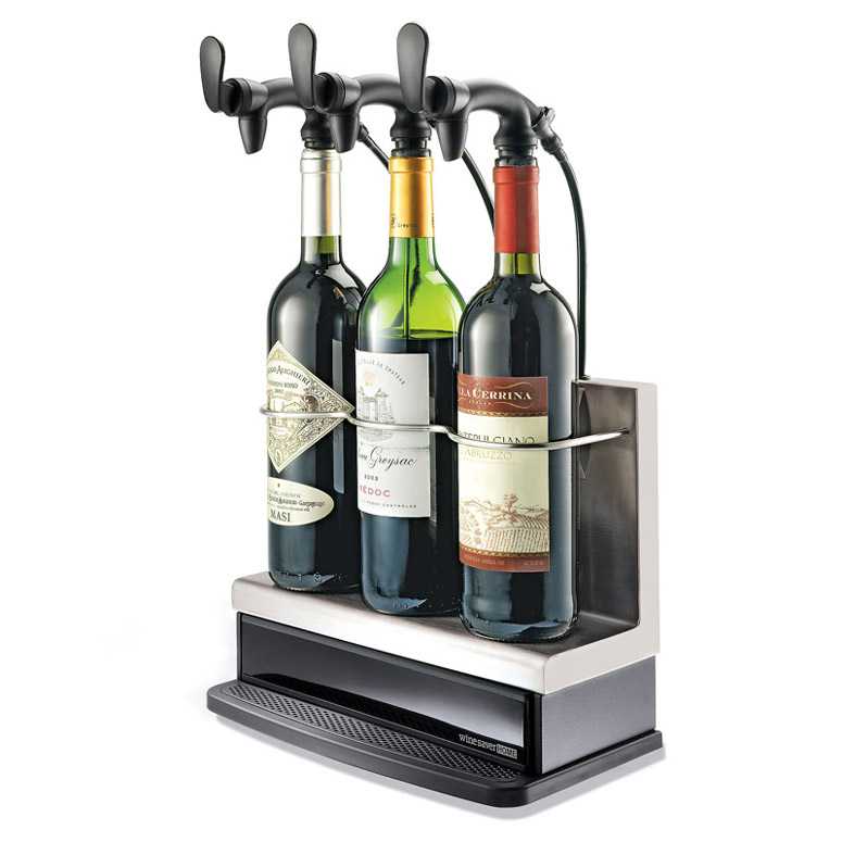 3-Bottle Wine Saver Home - Preservation and Serving System