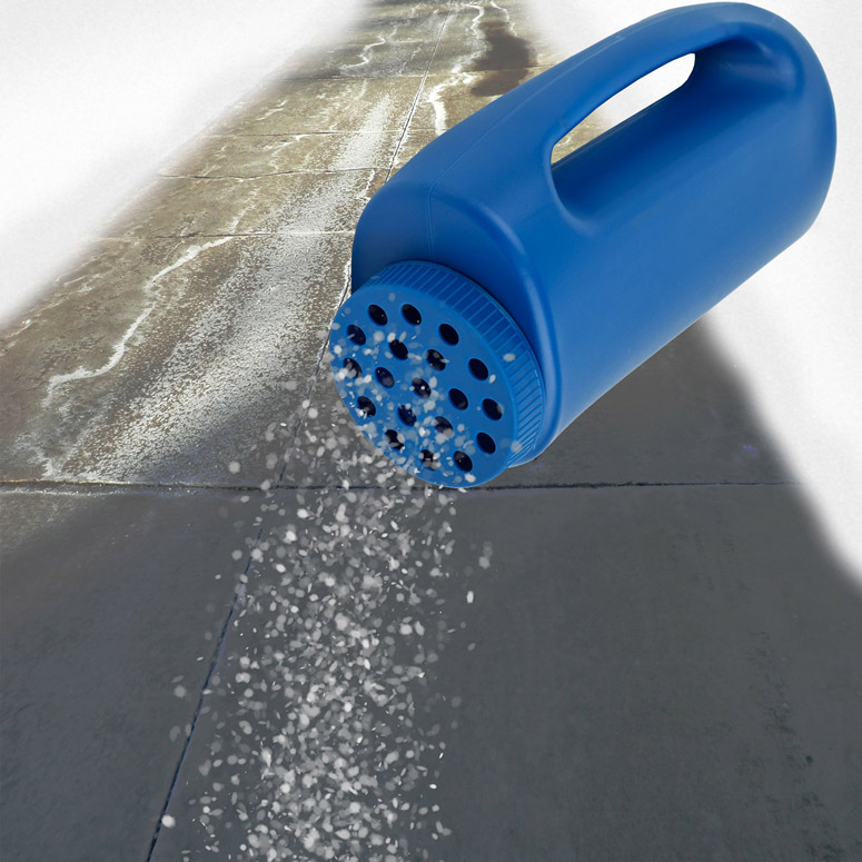 Winter Salt Sprinkler For Icy Walkways And Driveways The